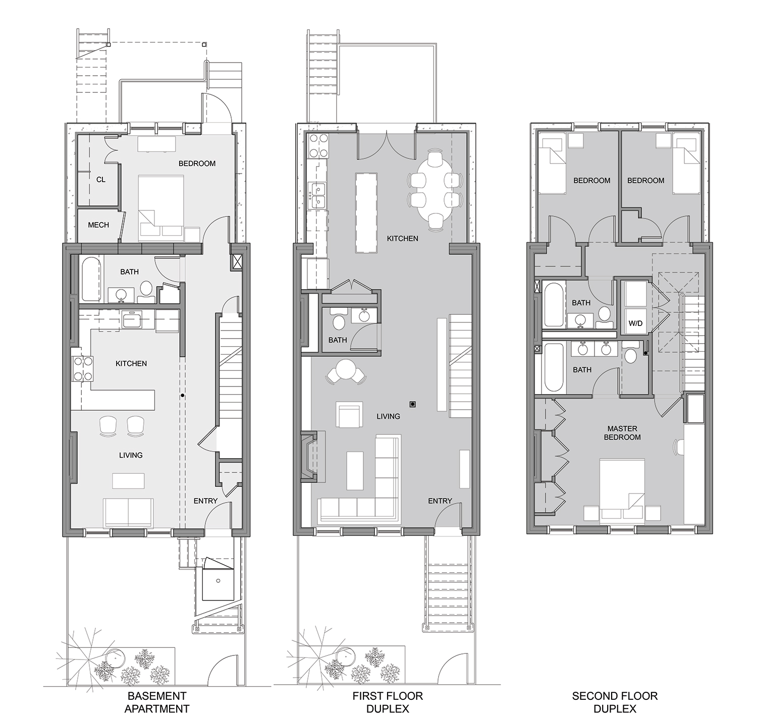 Modern row house design joy studio design gallery best for Victorian row house plans